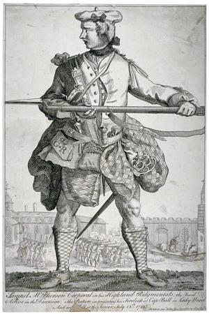 Samuel Mcpherson, Scottish Soldier, 1743