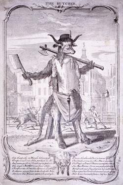The Butcher, 1740 by George Bickham