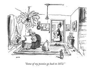 """Some of my peonies go back to 1872."" - New Yorker Cartoon by George Booth"