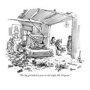 """The dog got locked in your car last night, Mr. Ferguson."" - New Yorker Cartoon by George Booth"