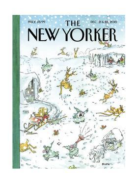 The New Yorker Cover - December 21, 2015 by George Booth