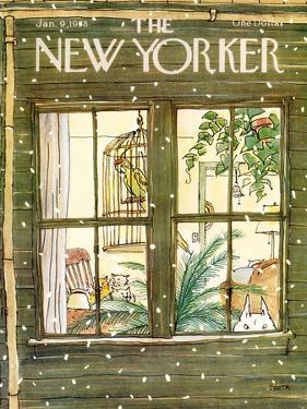 The New Yorker Cover - January 9, 1978 by George Booth