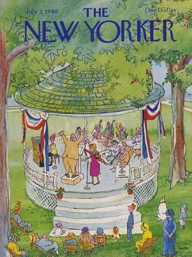 The New Yorker Cover - July 7, 1980 by George Booth