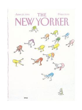 The New Yorker Cover - June 23, 1986 by George Booth