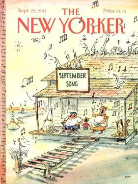 The New Yorker Cover - September 23, 1991 by George Booth