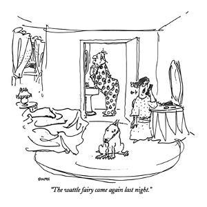 """The wattle fairy came again last night."" - New Yorker Cartoon by George Booth"