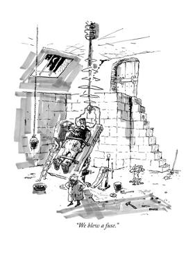 """We blew a fuse."" - New Yorker Cartoon by George Booth"