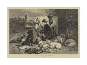 Dog Boy and Clumber Spaniels by George Bouverie Goddard