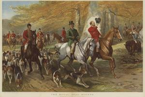 The Royal Stag Hounds, Hrh Prince of Wales and Lord Cork by George Bouverie Goddard