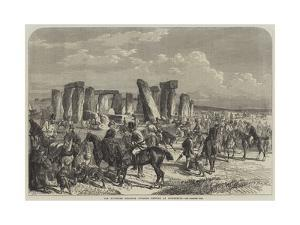 The Wiltshire Champion Coursing Meeting at Stonehenge by George Bouverie Goddard