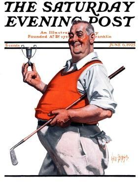 """""""Golf Trophy,"""" Saturday Evening Post Cover, June 6, 1925 by George Brehm"""