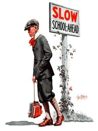 """""""Slow, School Ahead,""""September 5, 1925"""