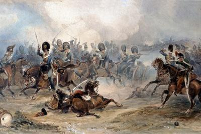 Captain Norman Ramsay, Royal Horse Artillery, Galloping His Troop Through the French Army to…