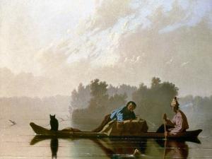 Bingham: Fur Traders, 1845 by George Caleb Bingham