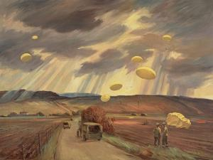 Drifting Down, 1944 by George Campbell Tinning