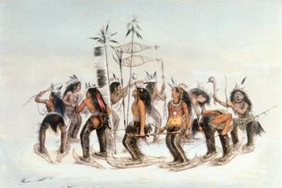 Chippewa Snowshoe Dance, C.1835 by George Catlin