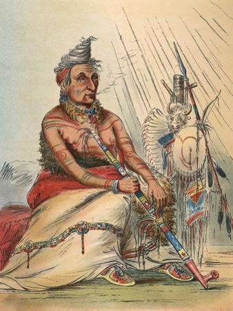Minitaree Chief by George Catlin