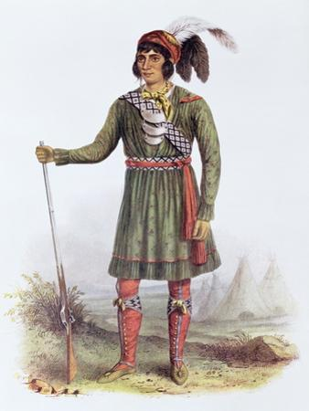 Osceola or Rising Sun, a Seminole Leader, Illustration from the Indian Tribes of North America by George Catlin