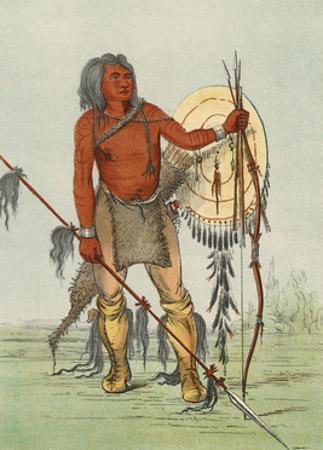 Racial, Comanche Warrior by George Catlin