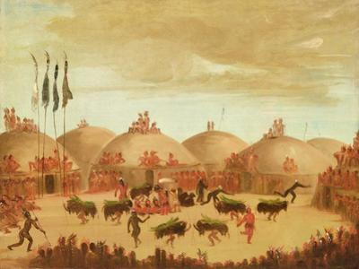 The Bull Dance by George Catlin