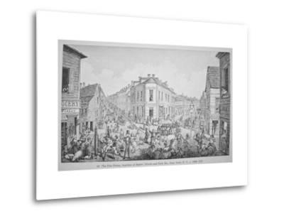 The Five Points, Junction of Baxter, Worth and Park Streets, New York, C.1829 by George Catlin