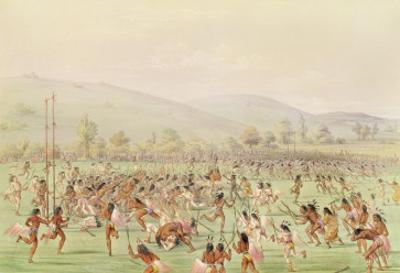 The Indian Ball Game, C.1832 by George Catlin