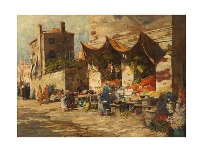 A Venetian Fruit Stall, 1896