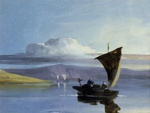 A Chinese Junk by George Chinnery
