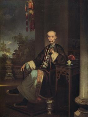 'How Qua, Head of the Hong Merchants in Canton', c1830 by George Chinnery