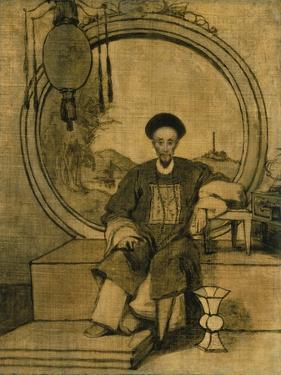 How Qua, Senior Hong Merchant at Canton, China by George Chinnery