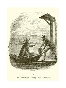 Guy Fawkes and Robert Catesby Landing Powder by George Cruickshank