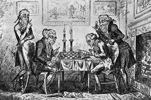 A Game of Chess by George Cruikshank