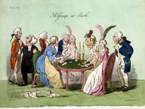 A Group at Bath, 1796 by George Cruikshank