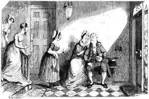 A Number of Women Attend to a Poorly Man, 19th Century by George Cruikshank