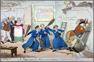 A Peep into the Blue Coat School!!!!!!!!!, 1815 by George Cruikshank