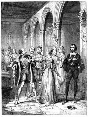 Anne Boleyn and Edward Seymour (1506-155), 19th Century by George Cruikshank
