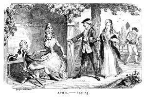 April - Fooling, C1839 by George Cruikshank