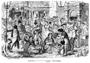 April - Low Sunday, 19th Century by George Cruikshank