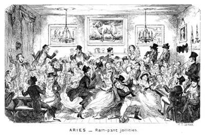 Aries - Ram-Pant Jollities, 19th Century by George Cruikshank