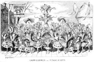 Capricornus - a Caper-O'-Corns, 19th Century by George Cruikshank
