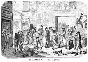 December - Boxing Day, 19th Century by George Cruikshank