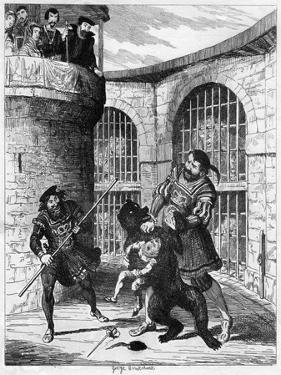 Gog Extricating Xit from the Bear in the Lions' Tower, 1840 by George Cruikshank