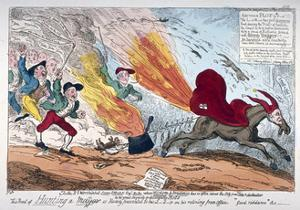 Hunting a Mare, 1819 by George Cruikshank