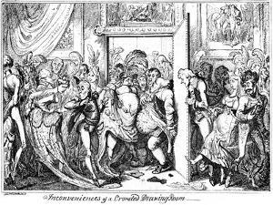 Inconvenience of a Crowded Drawing Room, 1818 by George Cruikshank