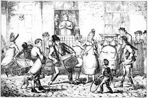Les Savoyards, 1818 by George Cruikshank