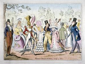 Monstrosities of 1819, and 1820, 1835 by George Cruikshank