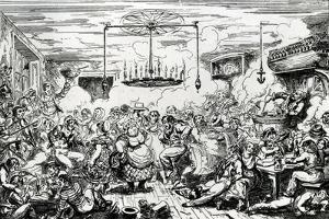 Sailors Carousing, or a Peep in the Long Room, 1825 by George Cruikshank
