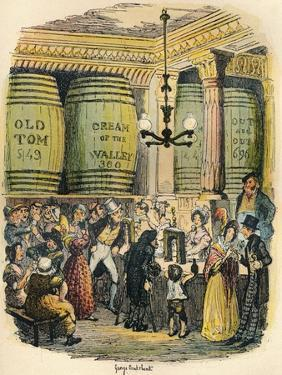 The Gin Palace, C1900 by George Cruikshank