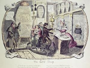 The Gin Shop, 1829 by George Cruikshank