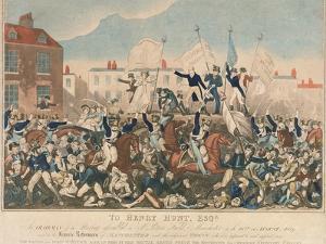 The Peterloo Massacre, 16th August 1819 by George Cruikshank